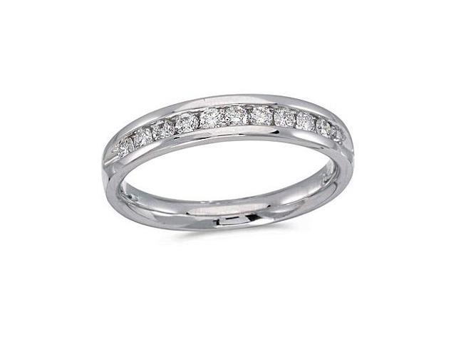 14K White Gold Diamond Diamond Band Ring (Size 9)