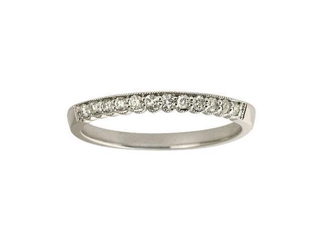 14K White Gold Diamond Band Ring (Size 7)