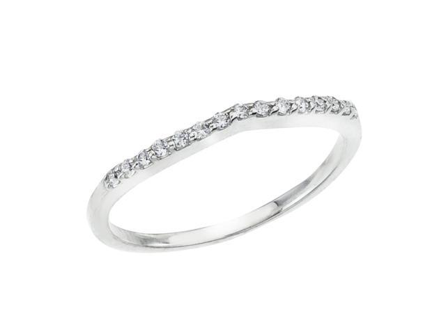 14K White Gold Braided Diamond QPID Wedding Band