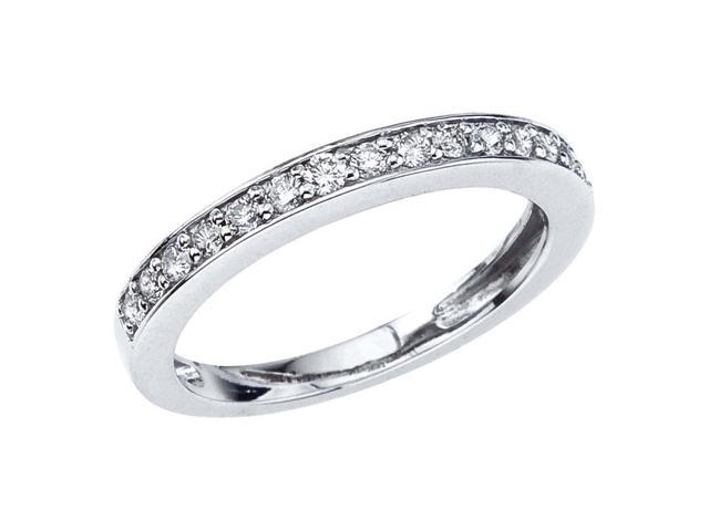 14K White Gold Classic Diamond QPID Wedding Band (0.34 tcw)
