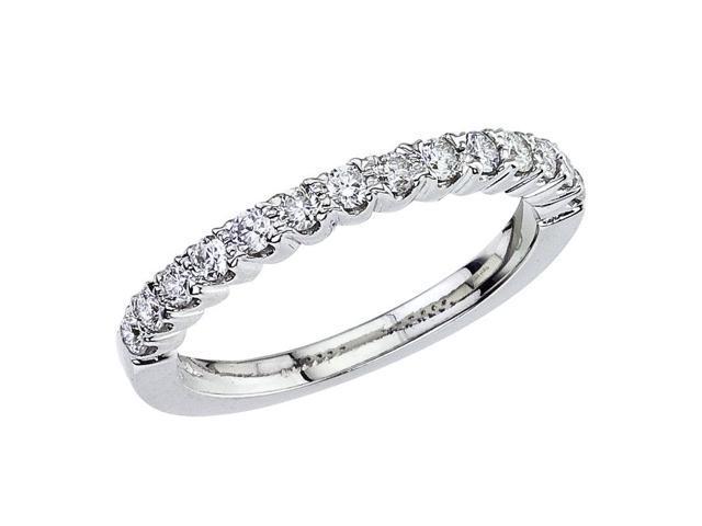 14K White Gold Classic Diamond QPID Wedding Band (0.42 tcw)