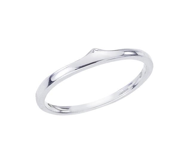 14K White Gold Classic QPID Wedding Band