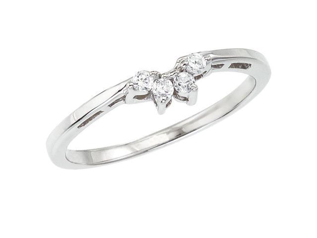 14K White Gold Wrap Diamond QPID Wedding Band