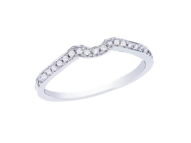 14K White Gold Channel-Set Diamond QPID Wedding Band