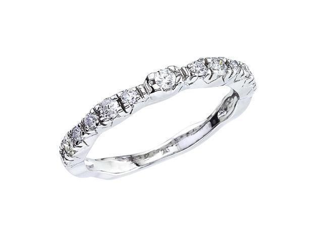 14K White Gold Classic Diamond QPID Wedding Band (0.34 tcw)