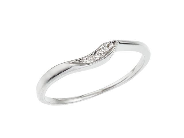 14K White Gold Wrap Diamond QPID Wedding Band