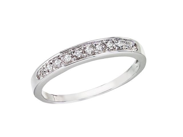 14K White Gold Cathedral Diamond QPID Wedding Band