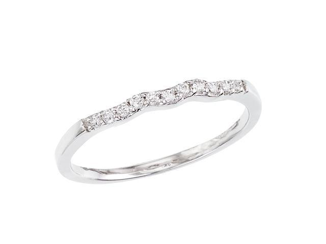 14K White Gold Braided Diamond QPID Wedding Band
