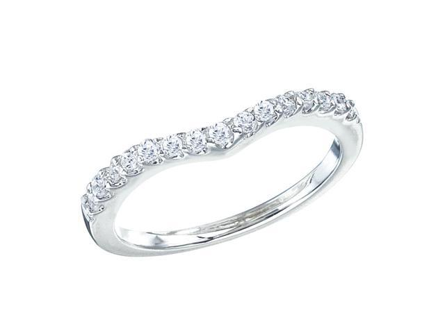 14K White Gold Classic Diamond QPID Wedding Band (0.3 tcw)