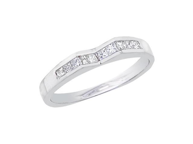 14K White Gold Classic Diamond QPID Wedding Band (0.3 tcw)