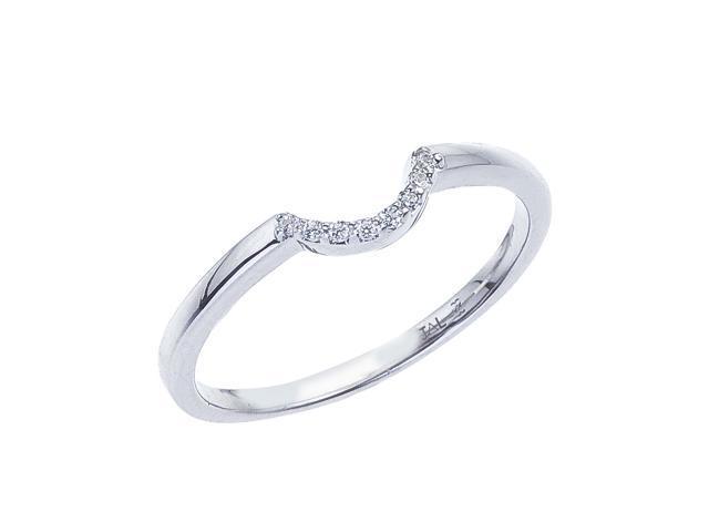 14K White Gold Classic Diamond QPID Wedding Band