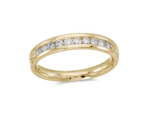 14K Yellow Gold Diamond Diamond Band Ring (Size 4.5)