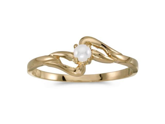 10k Yellow Gold Freshwater Cultured Pearl Ring (Size 7.5)