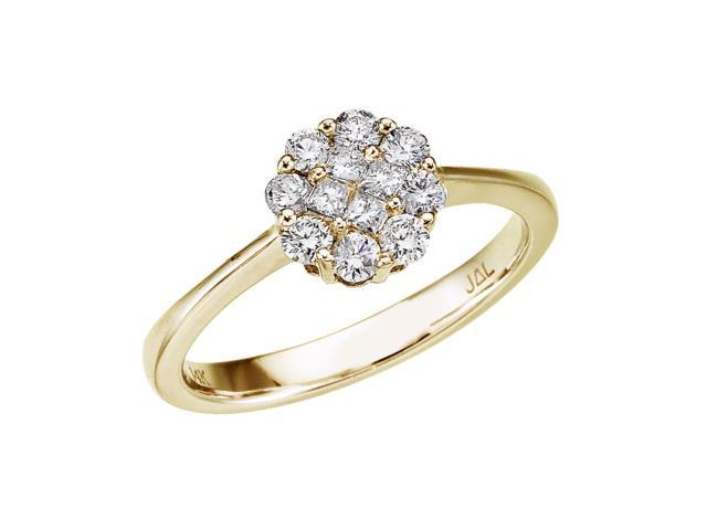 14K Yellow Gold .50 Ct Diamond Clustaire Ring