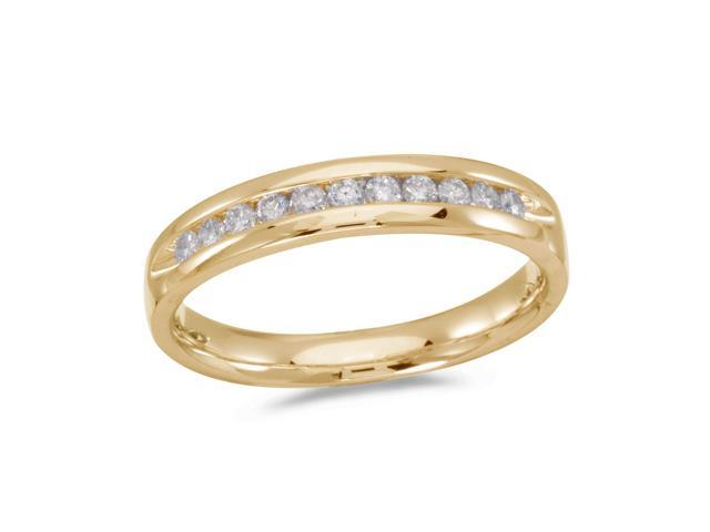 14K Yellow Gold Diamond Diamond Band Ring (Size 7)
