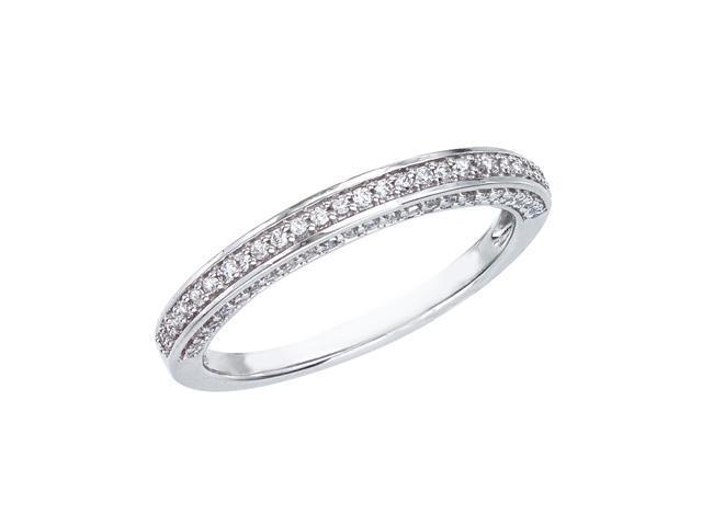 14K White Gold Classic Diamond QPID Wedding Band (0.39 tcw)