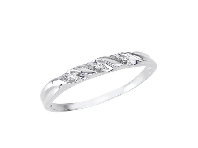14K White Gold Classic Diamond QPID Wedding Band