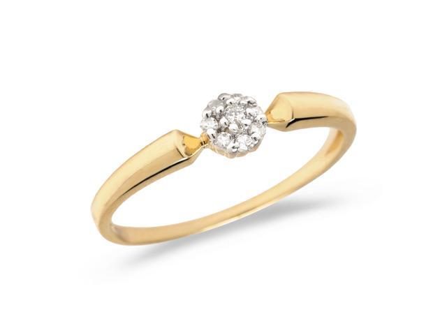 10K Yellow Gold Diamond Cluster Ring (Size 8.5)