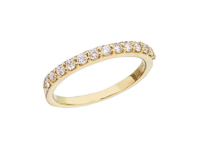 14K Yellow Gold Diamond Diamond Band Ring (Size 7)