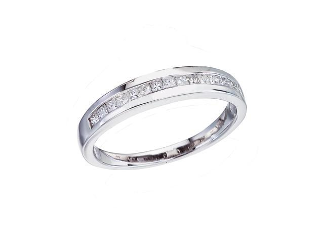 14K White Gold Classic Diamond QPID Wedding Band (0.27 tcw)