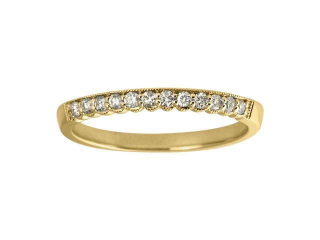 14K Yellow Gold Diamond Band Ring (Size 6)