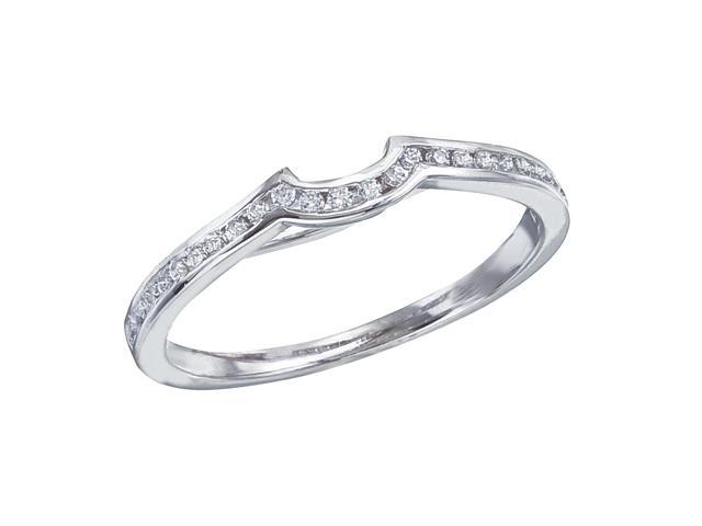 14K White Gold Channel-Set Diamond QPID Wedding Band