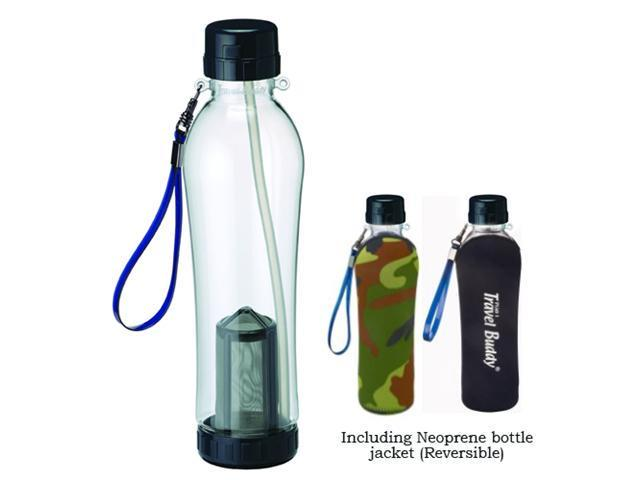 [CHINYEA TEAPARK] Travel Buddy Teapot with Straw (PC-703)-740ml Hot & Cold Dual Use Healthy Environmental Walk-cup (Including Neoprene bottle jacket)