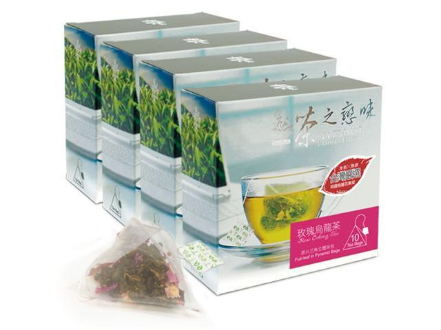 Rose Oolong Bag Tea - Taiwan Flower Flavor Tea (4 Packs/Set)