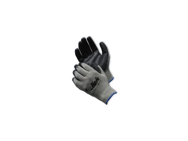 Gray Cotton/Polyester Curved Finger Shell, Nitrile Coated Palm & Fingers, Imp...