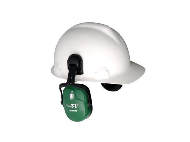 HOWARD LEIGHT BY HONEYWELL 1011601 Cap-Mounted Ear Muff, 23dB, Green