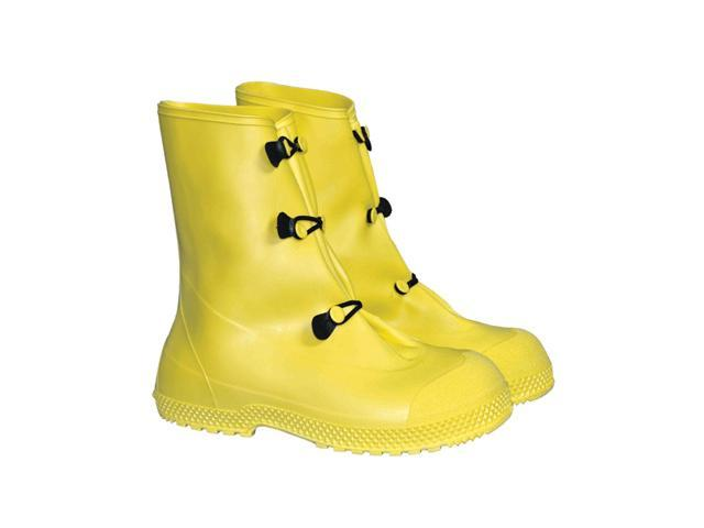 "Large Yellow 12"" Pvc 3 Button Overboots 12"" Pvc 3 Button Overboots"