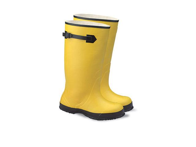 """Size 11 Yellow 17"""" Rubber Over-The-Shoe Boots 17"""" Rubber Over-The-Shoe..."""