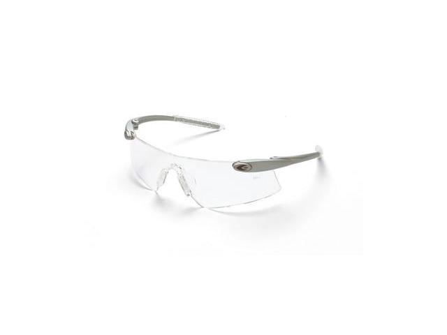 Crews  Desperado Tm Safety Glasses - Silver Frame And Clear Scratch Resistan...