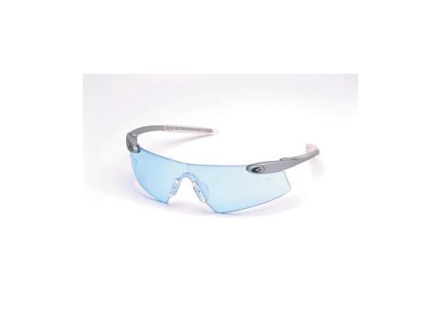 Crews  Desperado Tm Safety Glasses - Silver Frame And Light Blue Scratch Res...
