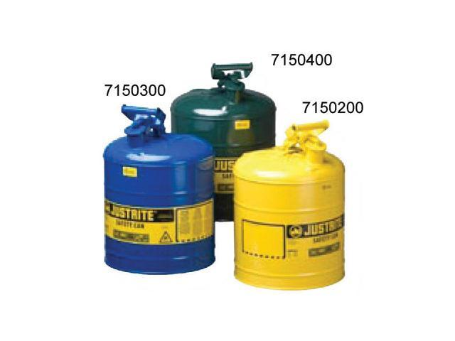 Justrite 5 Gallon Yellow Type 1 Safety Can