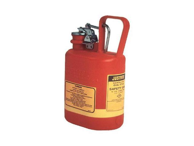 Justrite  Type I Oval Polyethylene Safety Can For Flammables - 1/2 Gallon Re...
