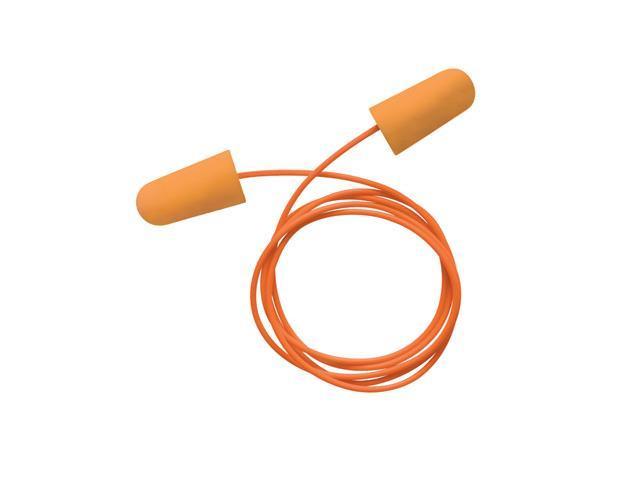 Single Use Tapered Orange Polyurethane And Foam Corded Earplugs (100 P...