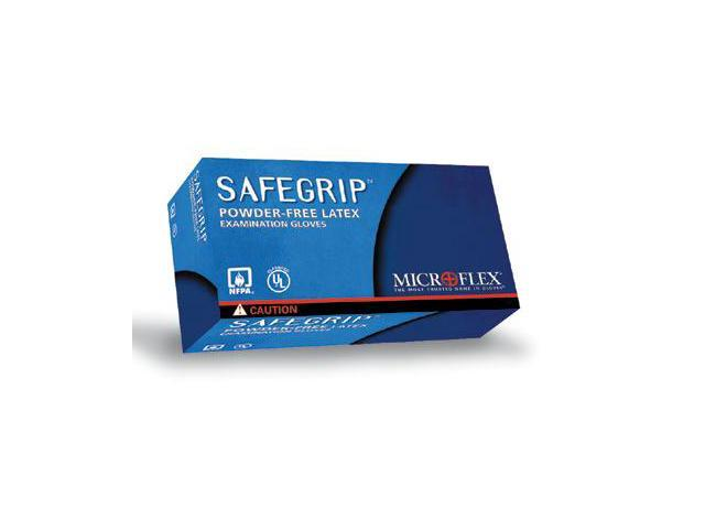 Microflex  Safegrip  Premium Latex Powder-Free Disposable Gloves - Large Bl...