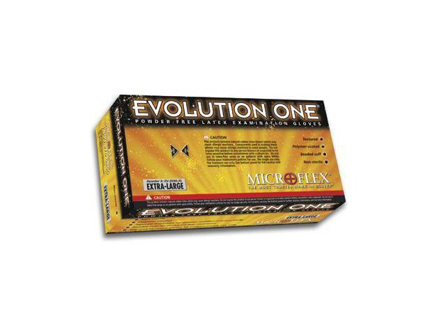 Microflex  Evolution One  Latex Powder-Free Disposable Gloves - Large Natur...