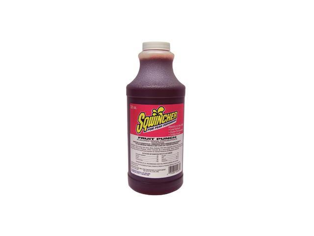Sqwincher 32 Ounce Liquid Concentrate Fruit Punch Electrolyte Drink - Yields ...