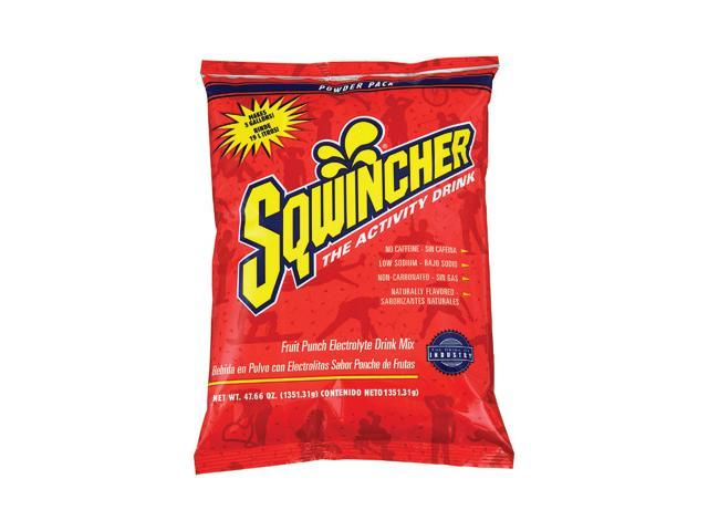 Sqwincher 47.66 Ounce Instant Powder Pack Fruit Punch Electrolyte Drink - Yie...