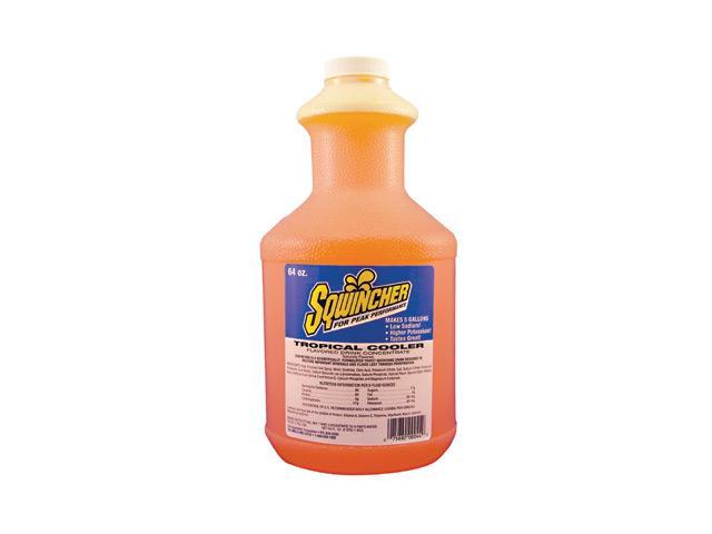 Sqwincher 64 Ounce Liquid Concentrate Tropical Cooler Electrolyte Drink - Yie...