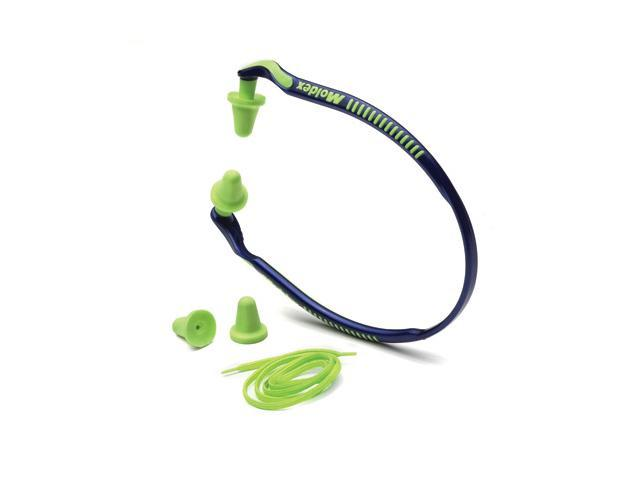 Moldex Jazz Band Blue And Bright Green Under Chin Banded Earplugs