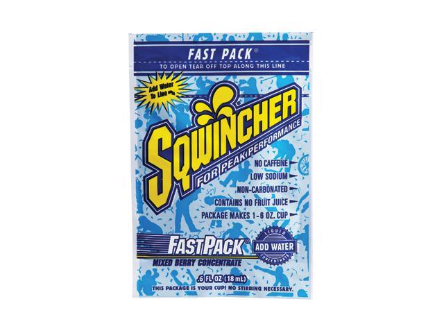 Sqwincher .6 Ounce Fast Pack Liquid Concentrate Mixed Berry Electrolyte Drink