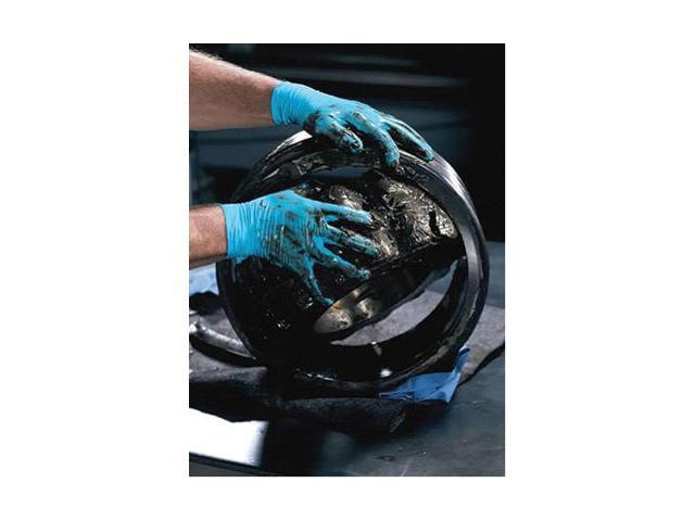 "Kimberly-Clark Medium Blue 9.5"" Kleenguard* G10 6 Mil Nitrile Ambidextrous Po..."