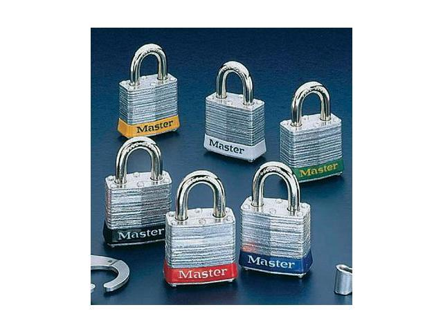 Master Lock White #3 Laminated Steel Pin Tumbler Padlock - Keyed Differently