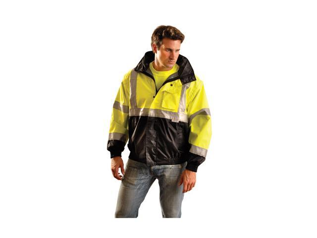 Occunomix Large Yellow And Black Pvc Coated Polyester Class 3 Weather Resista...