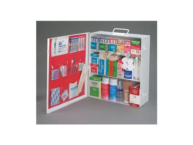 Empty Three-Shelf 25 Person Industrial First Aid Cabinet