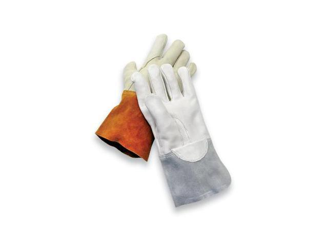 Large Gray Unlined Economy Calf Skin Mig/Tig Welders Glove