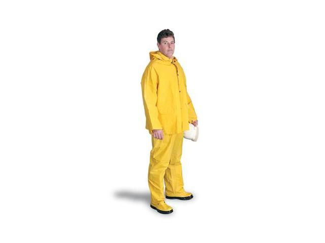 Pvc And Polyester Rain Suit - X-Large Yellow - 64055903